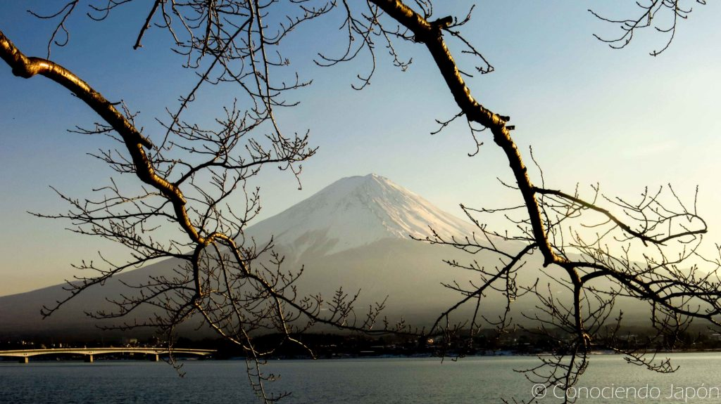 Atardecer en Monte Fuji para visitar cerca de Tokio