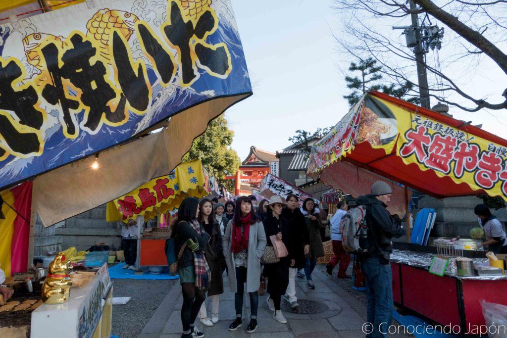 Algunos puestos de comida en Kioto