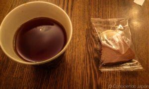Té y galletita del Monte Fuji